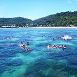 เกาะทะลุ ดำน้ำเกาะทะลุไปกับสีฟ้าทัวร์
